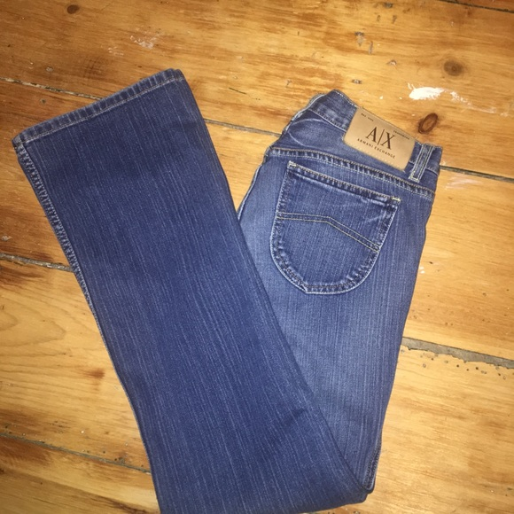 Armani Exchange Denim - Armani Exchange distressed wide leg jeans. Size 6